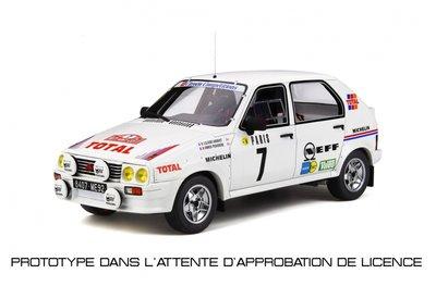 Otto Mobile 1:18 Citroën Visa 1000 Pistes Gr.B Monte-Carlo 1985 J.C. Andruet - A. Peuvergne. Levering 10/2019