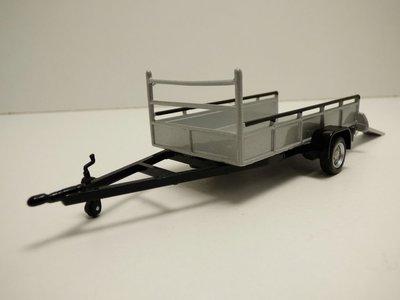 Cararama 1:43 Tow Car trailer 1 as zilver