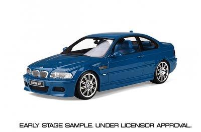 Otto Mobile 1:18 BMW E46 M3 Laguna Seca Blue oplage 2000 stuks