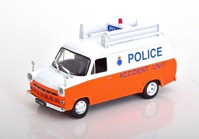 Atlas 1:43 Ford Transit MK I Police Engeland Accident Unit, in blisterverpakking