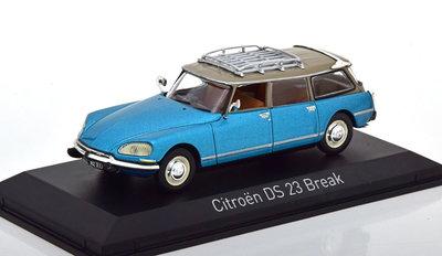 Norev 1:43 Citroen DS 23 Break 1974 Delta blue metallic, in vitrine