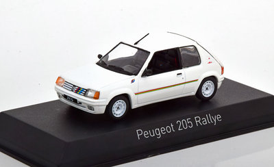 Norev 1:43 Peugeot 205 Rallye 1988 wit