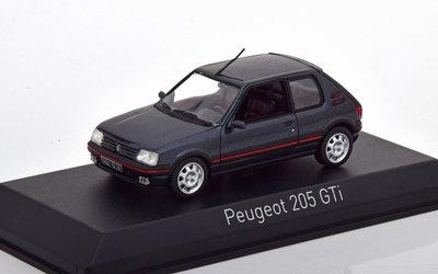 Norev 1:43 Peugeot 205 GTI 1992 donkergrijs