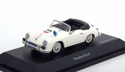 Schuco 1:43 Porsche 356A Cabrio Polizei wit oplage 750