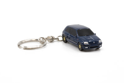 Z Models 3 inch Sleutelhanger RENAULT CLIO WILLIAMS donkerblauw. Diecast Model