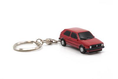 Z Models 3 inch Sleutelhanger Volkswagen Golf II GTi rood. Diecast Model