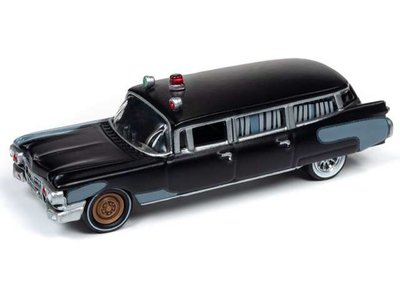 Johnny Lightning 1:64 Cadillac Ambulance Ghostbusters Project Pre-Ecto Silver screen series