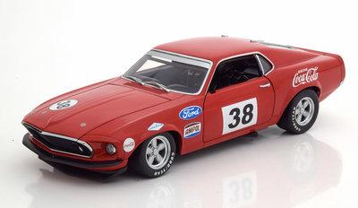 ACME 1:18 Ford Mustang Boss 302 Trans Am No38 Allan Moffat 1st Victory Car rood