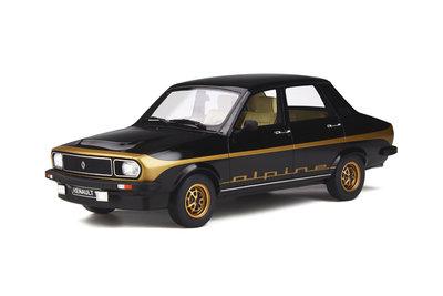 Otto Mobile 1:18 Renault 12 Alpine Noir 694. Levering april 2020