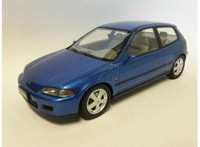 Triple9 1:18 Honda Civic EG6 blauw metallic 1992. Resin Model