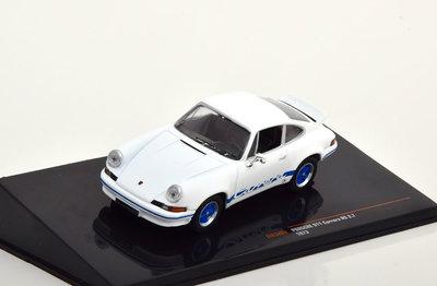 IXO 1:43 Porsche 911 Carrera RS 2.7 1973 wit blauw