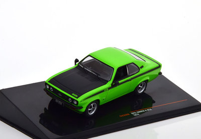 IXO 1:43 Opel Manta A GTE 1974 groen zwart