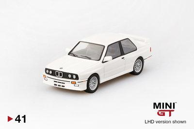 TMS Model 1:6 BMW M3 ( E30) Alpine wit LHD. Mini GT