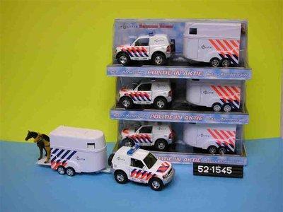Kids Globe DCPB Mitsubishi Outlander Politie Nederland met Paardentrailer Light and Sound