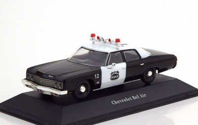 Atlas 1:43 Chevrolet Bel Air Police USA 1973 Police Cars Collection