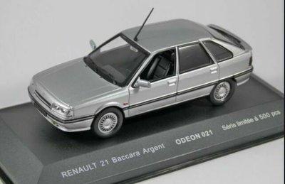 Odeon 1:43 Renault 21 Baccara zilver ( product bij IXO )