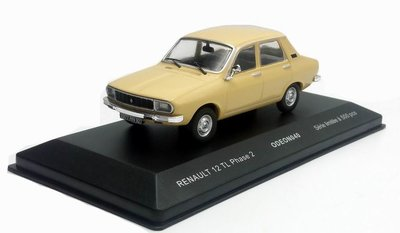 Odeon 1:43 Renault 12 TL Phase 2 beige 1976, product by iXO