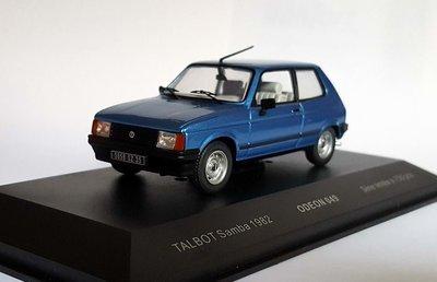 Odeon 1:43 Talbot Samba 1982 blauw, product by IXO
