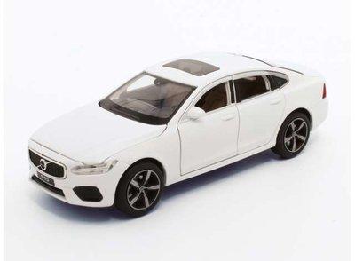 Tayumo 1:32  Volvo S90 wit met licht en geluid, pull-back