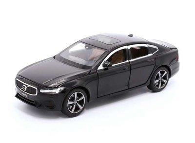 Tayumo 1:32 Volvo S90 zwart met licht en geluid, pull back