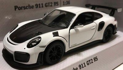 Kinsmart 1:36 Porsche 911 RS GT2( 991) 2017 wit