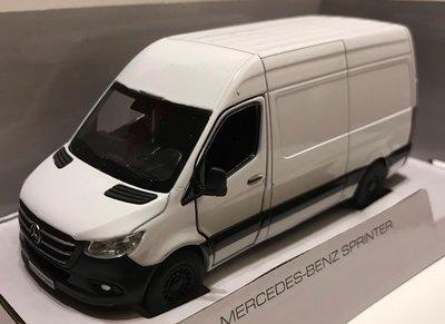 Kinsmart 1:36 Mercedes Benz Sprinter  2020 wit