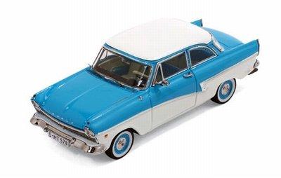 Premium X 1:43 Ford Taunus 17M 1957 blauw wit