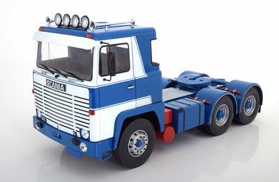 Road Kings 1:18 Scania LBT 141 1976 wit blauw