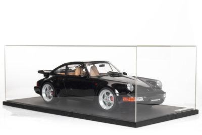 GT Spirit 1:8 PORSCHE 911 3.6 TURBO zwart incl vitrine