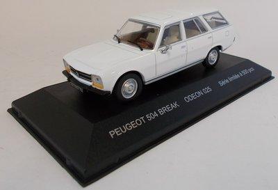 Odeon 1:43 Peugeot 504 Break wit ( product bij IXO)