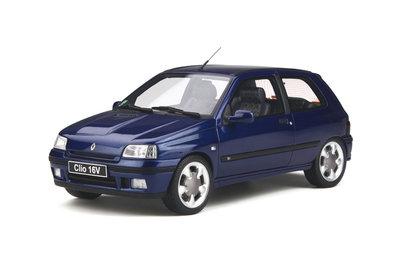 Otto Mobile 1:18 Renault Clio 16v Ph.2 Monaco Blue, oplage 1500 stuks