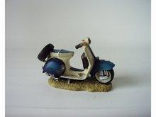 Polystone Vespa Mini blauw L 11cm x 6 cm H