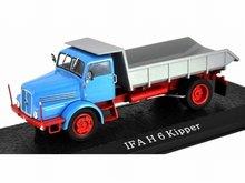 Atlas 1:43 IFA H 6 Kiepwagen blauw zilver