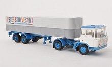Brekina Daf FT 2600 PP-SZ Peter Stuyvesant truck met opleger