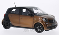Norev 1:18 Smart Forfour 2014 metallic bonze zwart