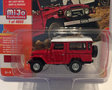Johnny Lightning 1:64 Toyota Land Cruiser 1980 rood met witte dak MiJo Exclusives